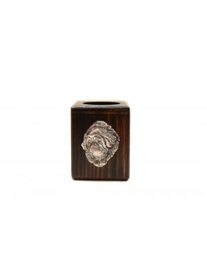 Tibetan Mastiff - candlestick (wood) - 3999 - 37900