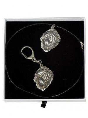 Tibetan Mastiff - keyring (silver plate) - 2027 - 16637