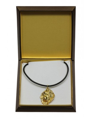 Tibetan Mastiff - necklace (gold plating) - 3071 - 31707