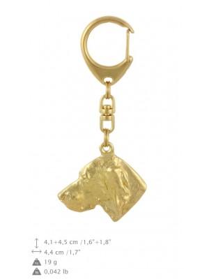 Weimaraner - keyring (gold plating) - 2838 - 30192