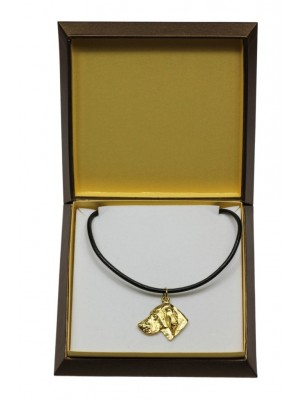Weimaraner - necklace (gold plating) - 3068 - 31704