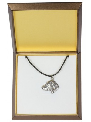 Weimaraner - necklace (silver plate) - 3016 - 31151
