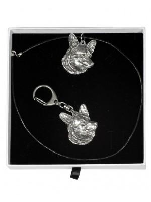 Welsh Corgi Cardigan - keyring (silver plate) - 1997 - 15851