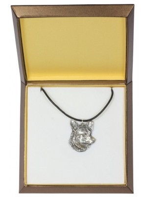 Welsh Corgi Cardigan - necklace (silver plate) - 2968 - 31111