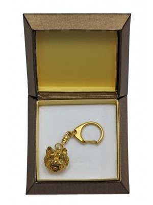 West Highland White Terrier - keyring (gold plating) - 2445 - 27316