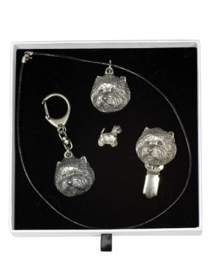 West Highland White Terrier - keyring (silver plate) - 2089 - 18422
