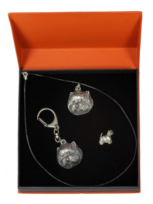 West Highland White Terrier - keyring (silver plate) - 2318 - 24755