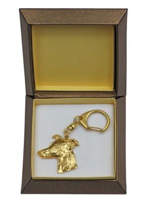Whippet - keyring (gold plating) - 2405 - 27276