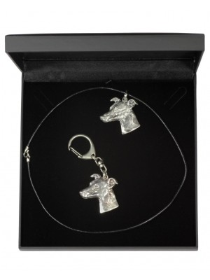 Whippet - keyring (silver plate) - 1769 - 11470