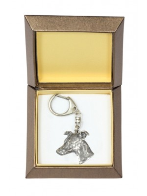 Whippet - keyring (silver plate) - 2739 - 29858