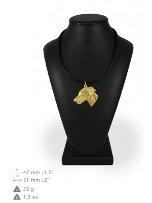 Whippet - necklace (gold plating) - 928 - 31253