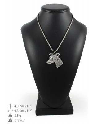 Whippet - necklace (silver cord) - 3167 - 33045
