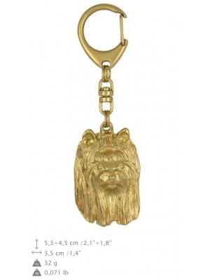 Yorkshire Terrier - keyring (gold plating) - 1730 - 25597