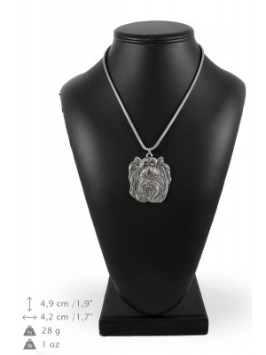 Yorkshire Terrier - necklace (silver chain) - 3282 - 34273