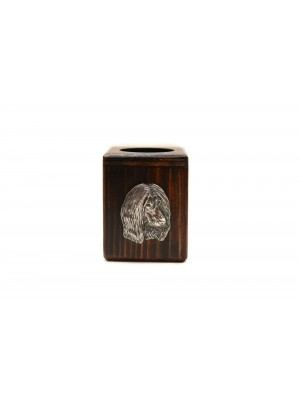 Afghan Hound - candlestick (wood) - 3989