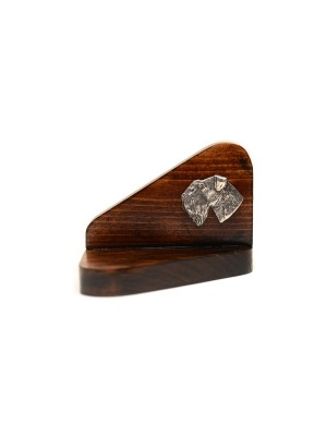 Schnauzer - candlestick (wood) - 3686