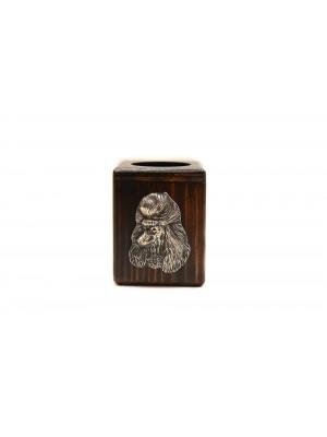 Poodle - candlestick (wood) - 3941