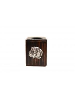 Basset Hound - candlestick (wood) - 3946