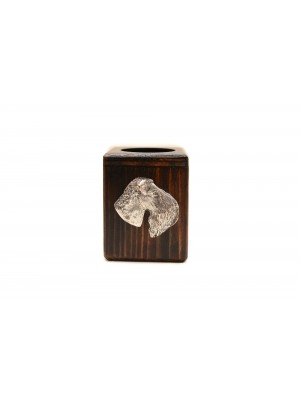 Kerry Blue Terrier - candlestick (wood) - 3949