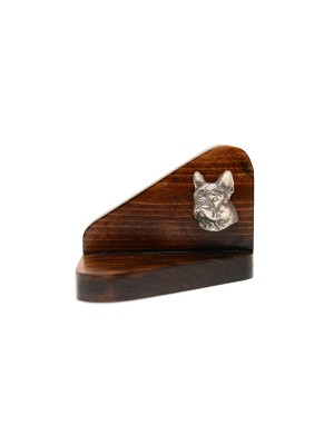 French Bulldog - candlestick (wood) - 3616
