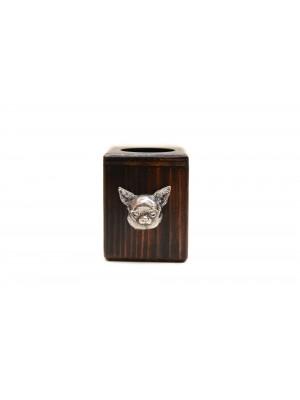 Chihuahua - candlestick (wood) - 3974