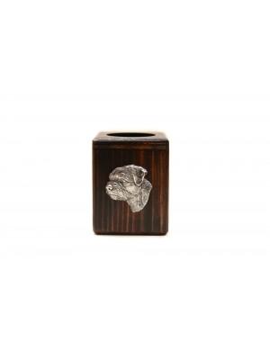 Border Terrier - candlestick (wood) - 3975