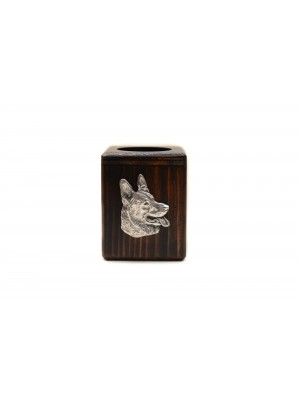 German Shepherd - candlestick (wood) - 3902