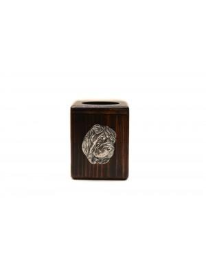 Shar Pei - candlestick (wood) - 3910