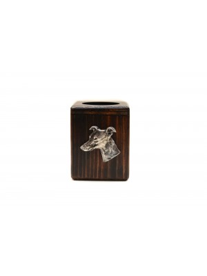 Whippet - candlestick (wood) - 3916