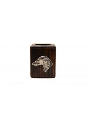 Saluki - candlestick (wood) - 3888