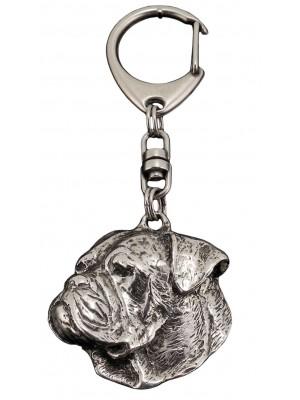 American Bulldog - keyring (silver plate) - 105
