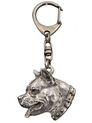 American Staffordshire Terrier - keyring (silver plate) - 32