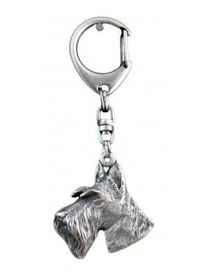 Scottish Terrier - keyring (silver plate) - 38