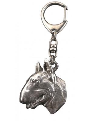Bull Terrier - keyring (silver plate) - 60