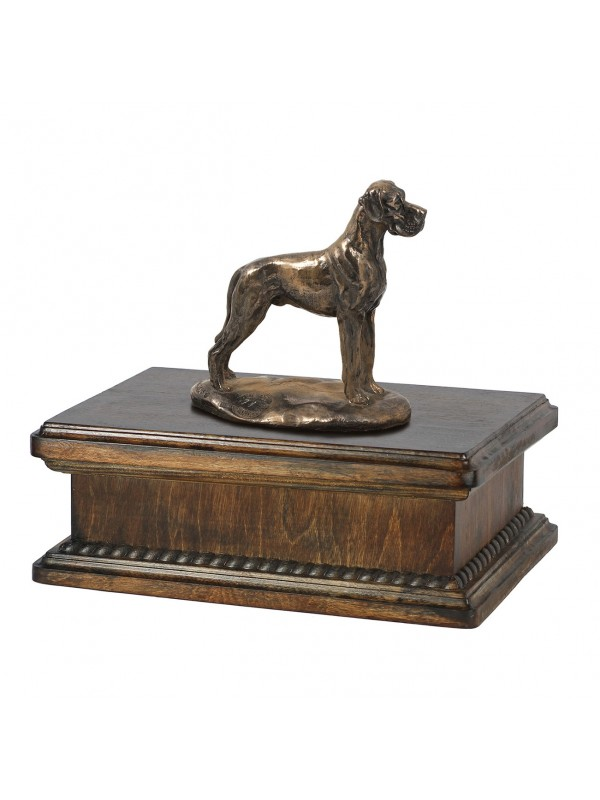 Great dane uncropped- exlusive urn