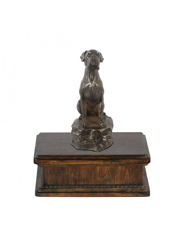 Boxer sitting- exlusive urn
