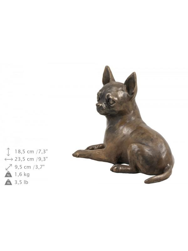 Chihuahua lying - exlusive urn