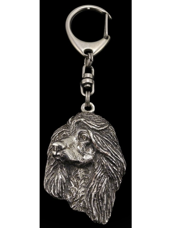 Afghan Hound - keyring (silver plate) - 65 - 383
