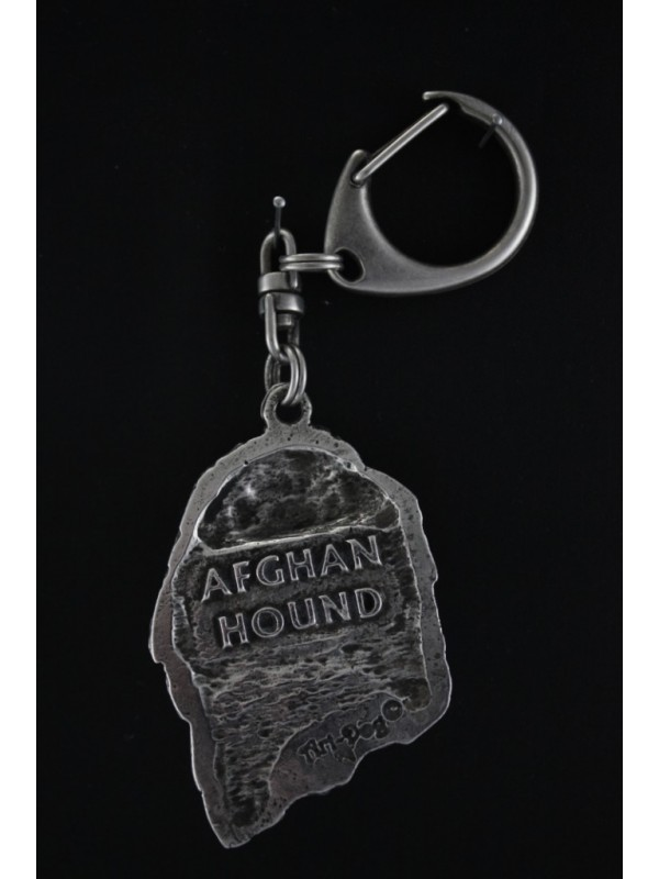 Afghan Hound - keyring (silver plate) - 65 - 386