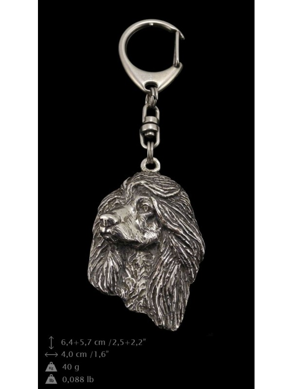 Afghan Hound - keyring (silver plate) - 65 - 9311
