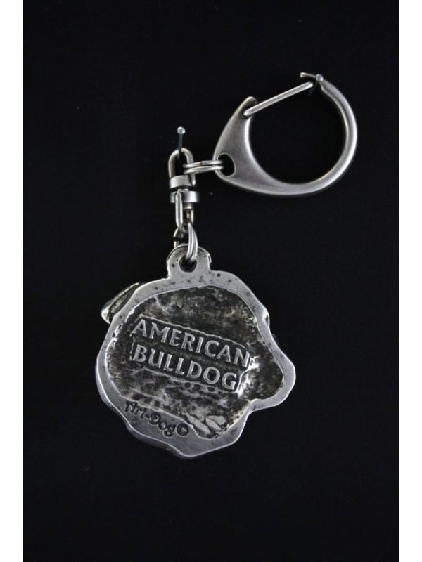 American Bulldog - keyring (silver plate) - 105 - 569