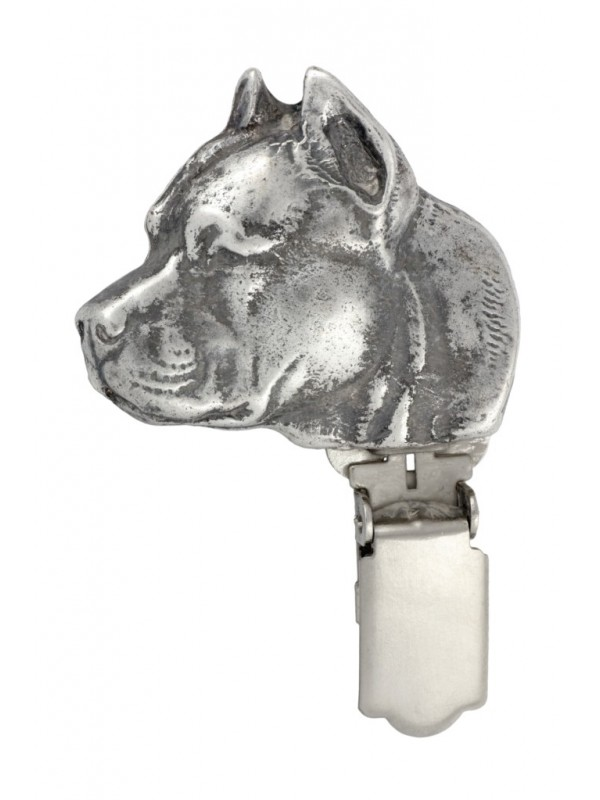 American Staffordshire Terrier - clip (silver plate) - 14 - 26199