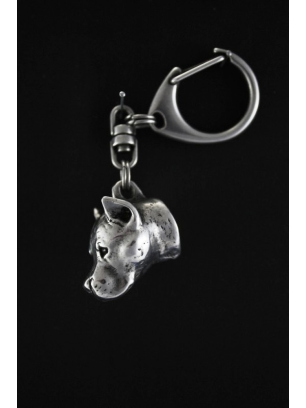 American Staffordshire Terrier - keyring (silver plate) - 27 - 179