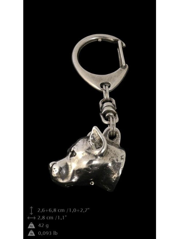 American Staffordshire Terrier - keyring (silver plate) - 27 - 9236