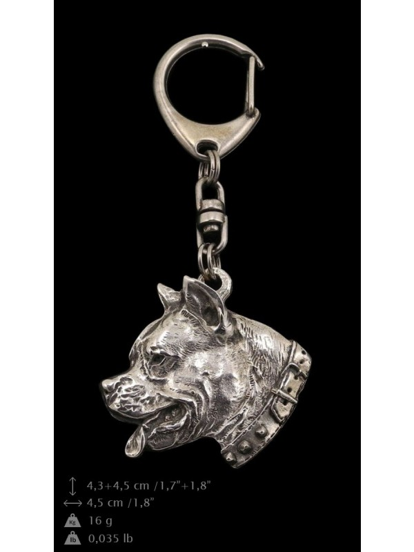 American Staffordshire Terrier - keyring (silver plate) - 32 - 9244