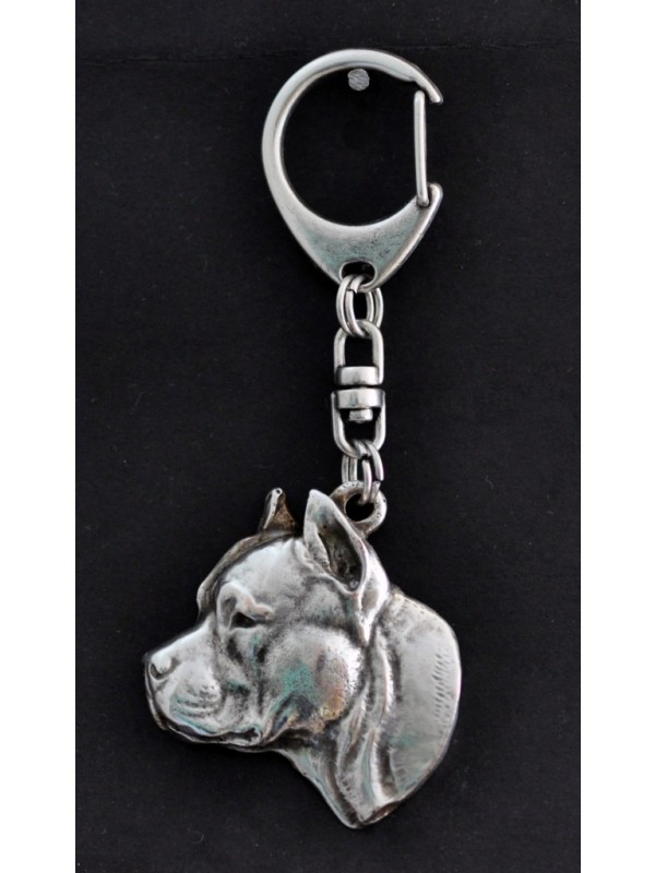 American Staffordshire Terrier - keyring (silver plate) - 61 - 363