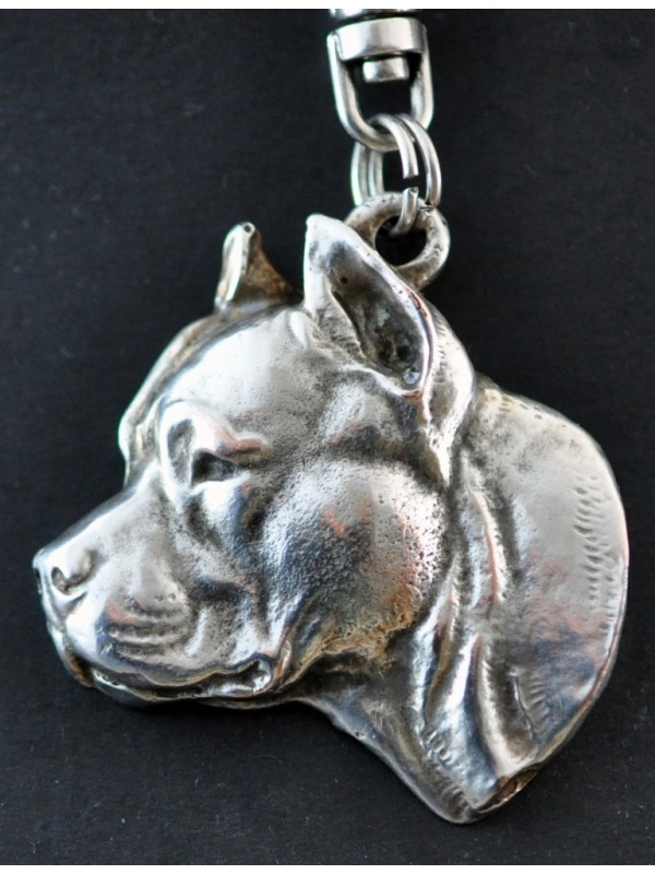 American Staffordshire Terrier - keyring (silver plate) - 61 - 364