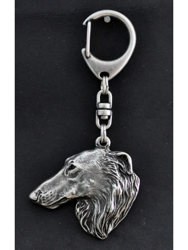 Barzoï Russian Wolfhound - keyring (silver plate) - 42 - 259