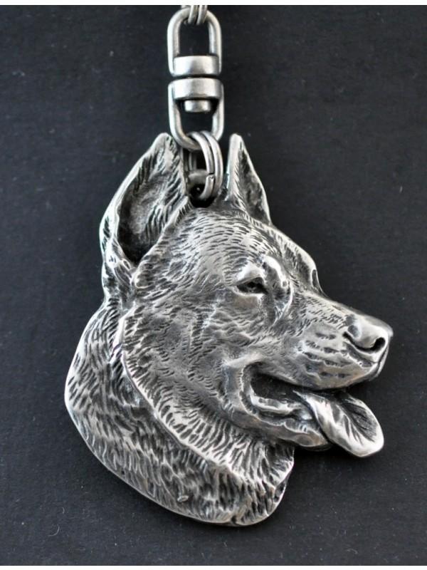 Beauceron - keyring (silver plate) - 53 - 323