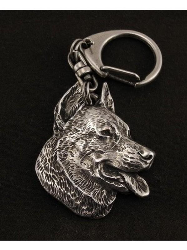 Beauceron - keyring (silver plate) - 53 - 9855
